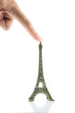 De kleine geïsoleerde toren van Eiffel Stock Foto's