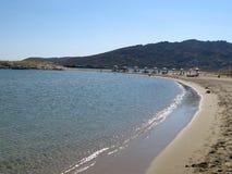 De kleine golven bij het strand Stock Foto