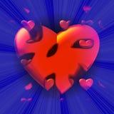 De kleine harten komen uit een groot rood hart te voorschijn Royalty-vrije Stock Afbeelding