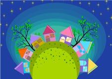 De kleine Horizon van het Stadsdorp royalty-vrije illustratie