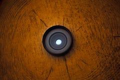 De kleine houten achtergrond van de Fotolens Stock Foto's