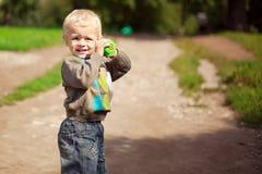 De kleine jongen Stock Foto