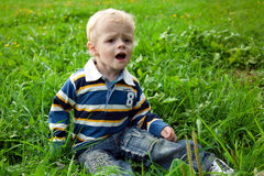 De kleine jongen Royalty-vrije Stock Afbeelding