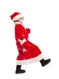 De kleine jongen kleedde zich als Kerstman, isolatie Royalty-vrije Stock Foto