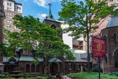 De Kleine Kerk rond de Hoek stock fotografie