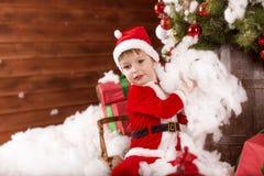 De kleine Kerstman Stock Foto's