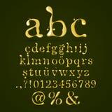 De kleine letters van het olijfoliealfabet Royalty-vrije Stock Afbeelding