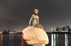 De Kleine Meermin, Kopenhagen, Denemarken Royalty-vrije Stock Afbeelding