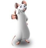 De kleine muis in een positief stelt Stock Afbeelding