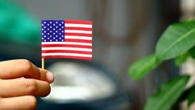 De kleine nationaliteit van de V.S. in de handen van kinderen stock foto