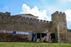 De kleine ommuurde stad van Evormonte Royalty-vrije Stock Foto's
