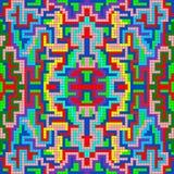 De kleine pixel kleurden geometrisch abstract patroon Royalty-vrije Stock Afbeeldingen