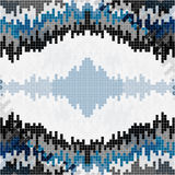 De kleine pixel kleurden geometrische achtergrond Stock Foto's