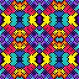 De kleine pixel kleurden geometrische achtergrond naadloze patroon vectorillustratie Stock Fotografie