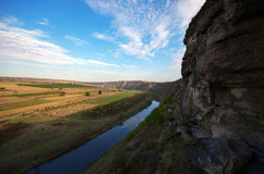 De kleine rivier schommelt landschap Royalty-vrije Stock Afbeelding