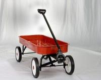 De kleine rode wagen Royalty-vrije Stock Afbeelding