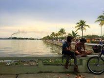 De kleine stad Cienfuegos in Cuba royalty-vrije stock afbeelding