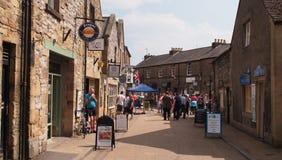 De kleine stad van Bakewell in Derbyshire, Groot-Brittannië stock foto