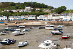 De kleine stad van Gorey op Jersey, het UK Royalty-vrije Stock Foto's