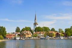 De kleine stad van Zweden Stock Afbeeldingen