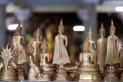 De kleine standbeelden van Boedha Stock Afbeelding