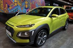 2018 de kleine SUV auto van Hyundai Kona Royalty-vrije Stock Foto