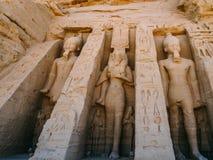 De kleine tempel in Abu Simbel Royalty-vrije Stock Afbeeldingen