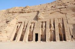 De Kleine Tempel van Nefertari Abu Simbel, Egypte Stock Fotografie