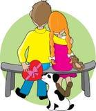 De kleine Valentijnskaart van Jonge geitjes Stock Foto's
