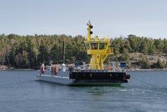 De kleine veerboot gaat de machine over Royalty-vrije Stock Fotografie