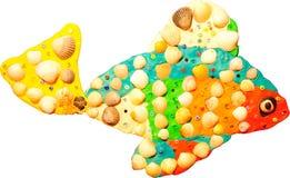De kleine vissen van de plasticine stock foto