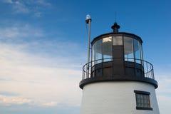 De kleine vuurtoren van de Kasteelheuvel in Nieuwpoort, Rhode Island, de V.S. Stock Afbeeldingen