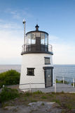 De kleine vuurtoren van de Kasteelheuvel in Nieuwpoort, Rhode Island, de V.S. Royalty-vrije Stock Afbeeldingen