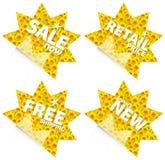 De kleinhandelsstickers van de zonnebloem Royalty-vrije Stock Foto's