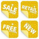 De kleinhandelsstickers van de zonnebloem Royalty-vrije Stock Foto