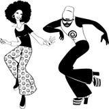 De klem-kunst van discodansers stock illustratie