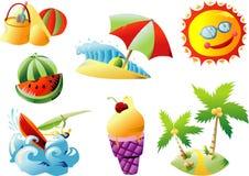 De klem-Kunst van het Strand van de zomer vector illustratie