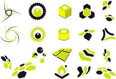 De klem-kunst van vormen Stock Afbeelding