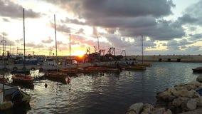De klem van de tijdtijdspanne van Israëlische haven in Yafo of Jaffa stock footage
