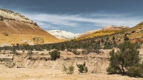 de klem van de de filmfilm van 4k Timelapse van Aktau-bergen in Altyn Emel National Park, Centraal-Azië, Kazachstan stock video