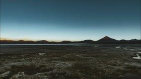 de klem van de de filmfilm van 4k Timelapse van zonsondergangdag aan de sterren van de nachtovergang van rode lagunelaguna colora stock video