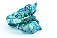 De klem van het haar in vlindervorm Stock Foto