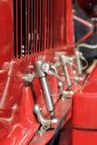 de klemmen van de de motordekking van de jaren '20raceauto Royalty-vrije Stock Fotografie