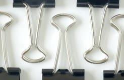 De klemmen van het bindmiddel Stock Afbeelding