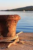 De klep van de bootmeertros Stock Afbeeldingen