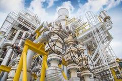 De klep van de drukveiligheid, afblaasklep bij zuiging en lossing van de compressor van de gasturbine om te beschermen leidingens royalty-vrije stock foto's