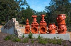 De Kleppen van de Mundaringswaterkering Stock Foto