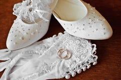 De kleren van de bruid Stock Foto's