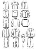 De kleren van de contourenschool voor jongens Stock Foto