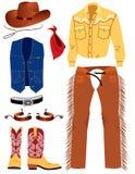 De kleren van de cowboy Royalty-vrije Illustratie